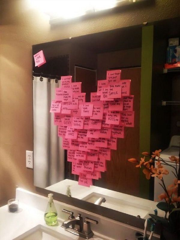 Write a different reason why you love them on each post it note ...