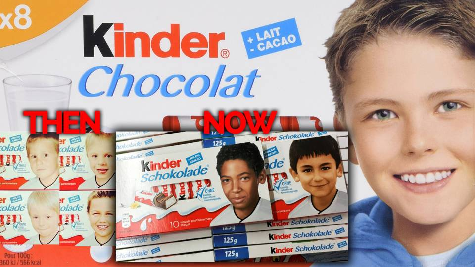 Kinder Chocolate Replaces White Kid on Packaging with Immigrant Kids