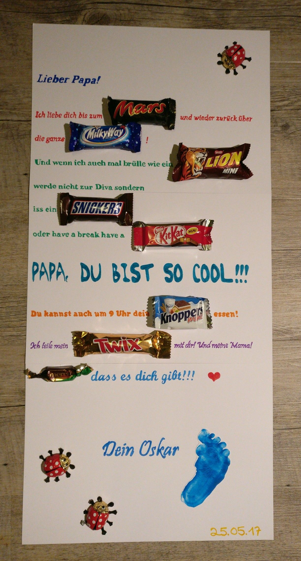 Vatertag Mars Milky Way Lion Snickers Kit Kat Knoppers Twix Merci ...